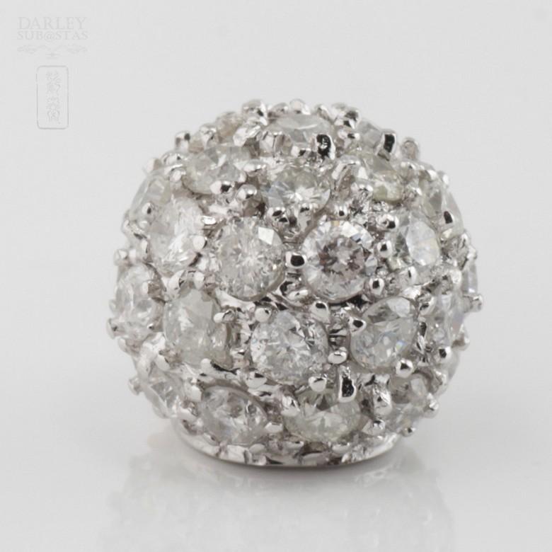 18K白金镶钻石吊墜 - 1