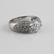 Ring Zircons in Sterling Silver, 925 - 3