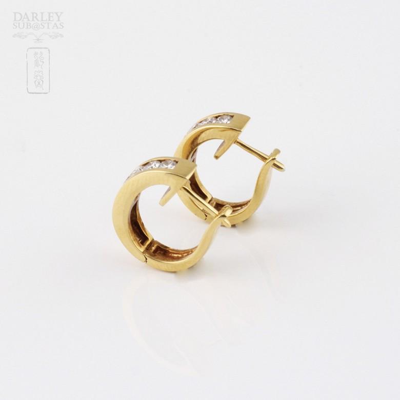 pendientes diamantes 0.55cts en oro amarillo de 18k - 3