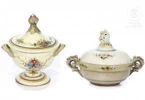 Antonio Peyró (1882-1954) bonbon bowl and bowl.