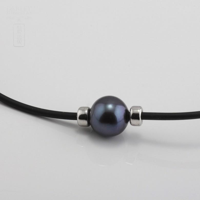 925银配黑珍珠项链 - 3
