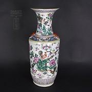 Gran jarrón de porcelana china siglo XIX.