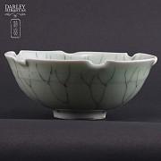 vasija de ceramica verde