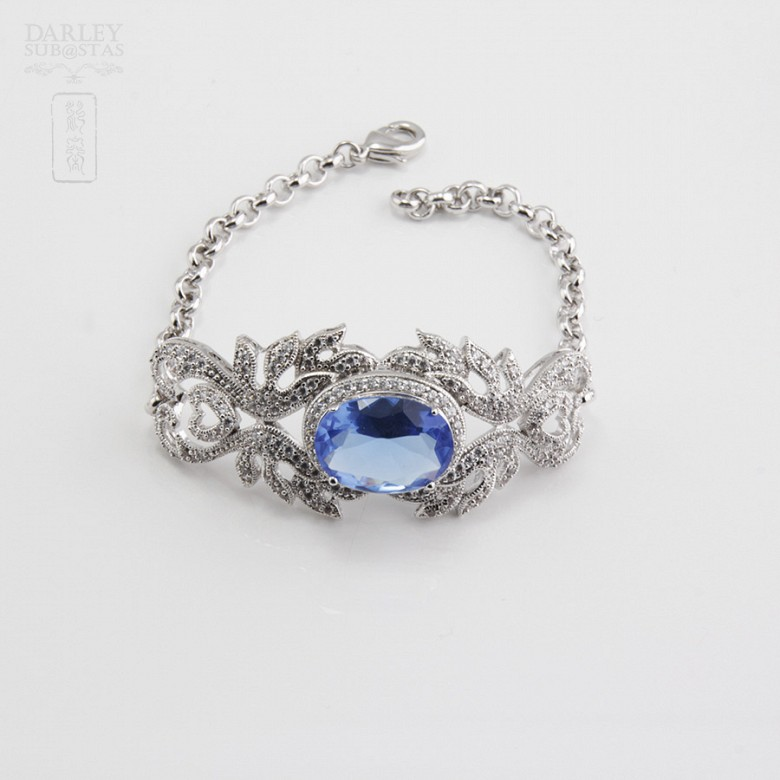 Faller blue dressing and rhodium plated - 3
