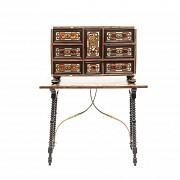 Spanish desk with hawksbill and bone applications, 19th century
