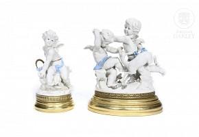 Two Algora porcelain figurines, 20th century