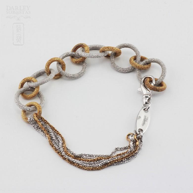925雙色銀手链