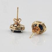 Nice earrings sapphires and diamonds - 3