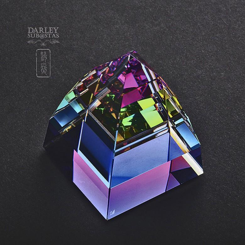 Dos piezas en cristal de Swarovski, campana y piramide - 3