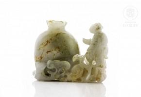 Figura de jade tallado