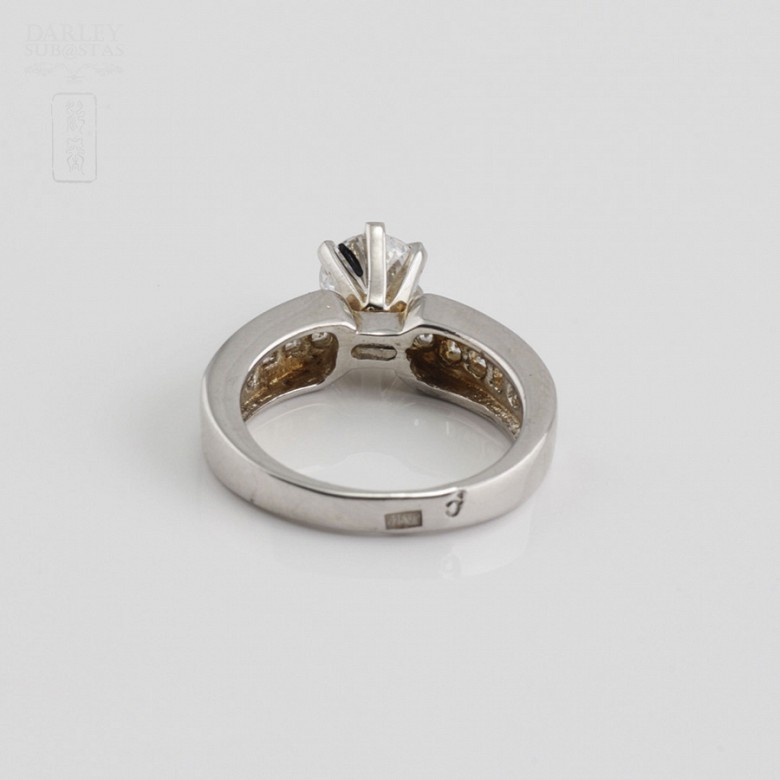 Ring in sterling silver, 925m / m, with zircons - 4