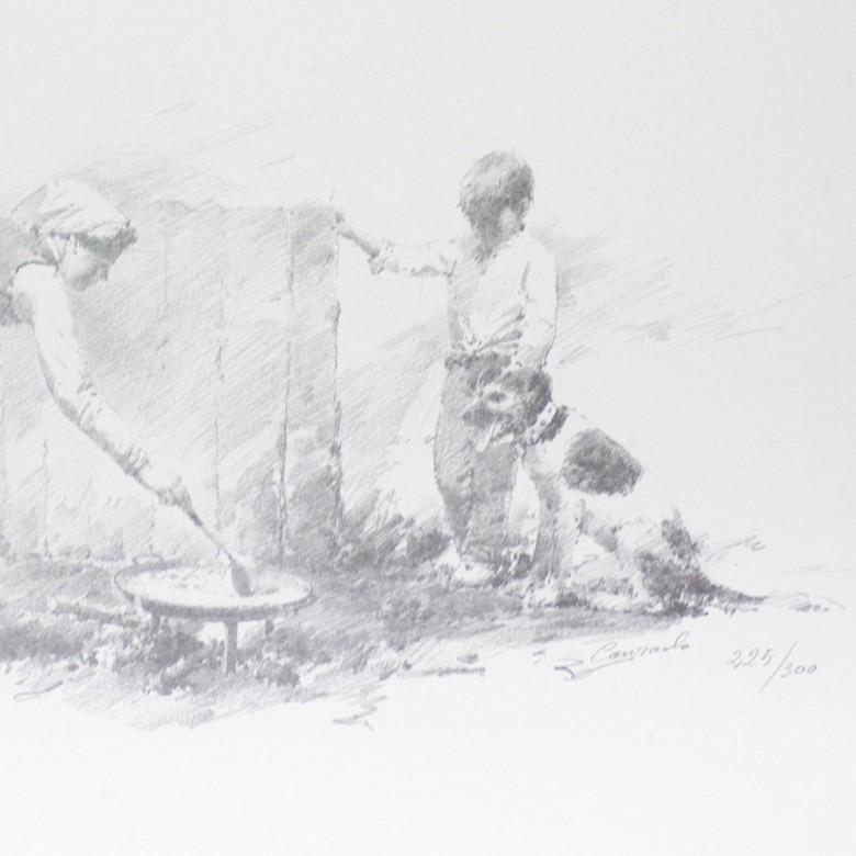 Conrado Meseguer Muñoz  3 Litografías - 9