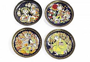 Four Rosenthal porcelain plates, 20th century