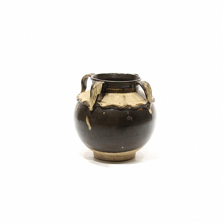 Vasija de cuatro asas esmaltada, China, s.XX