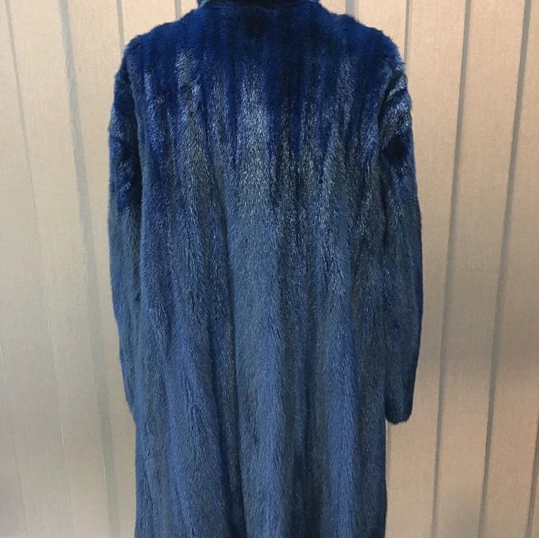 Nice blue mink fur coat - 5