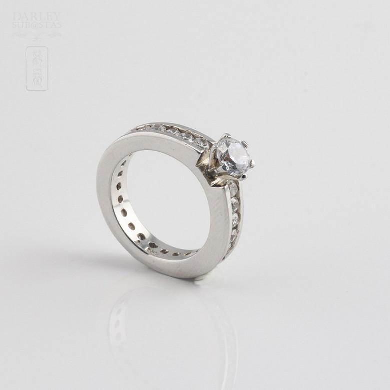 Ring Zircons in Sterling Silver, 925 - 1