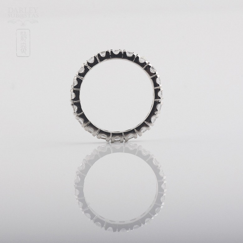 Ring Zirconia  in sterling silver, 925 - 1