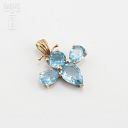 Pendant with 3.80cts Topaz in 18k Yellow Gold - 2