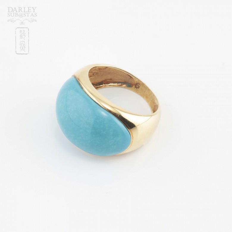 18K黄金绿松石戒指 - 2