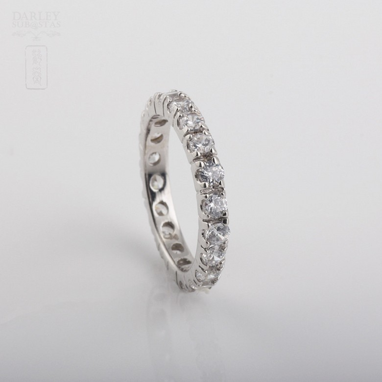 Ring Zirconia  in sterling silver, 925