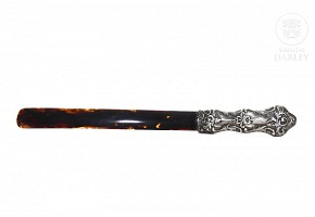 English silver letter opener, early 20th century