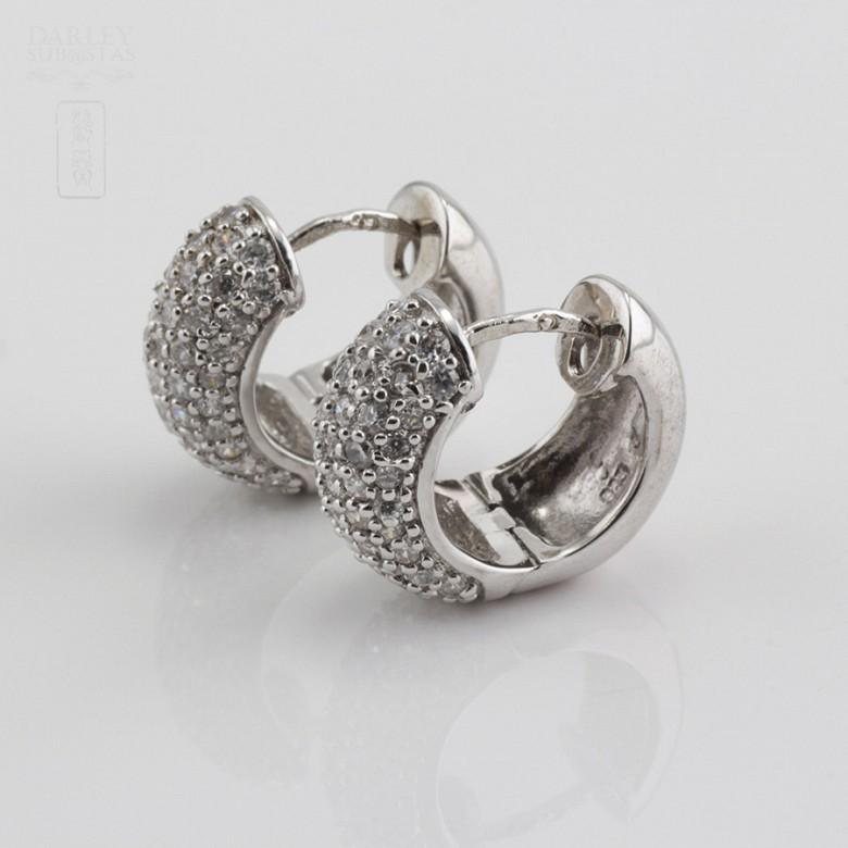 Zircons Earrings in sterling silver, 925m / m - 1