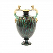Enameled ceramic amphora, Minton & Co., 1836-1904
