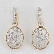 Preciosos pendientes con 1.01cts de diamantes