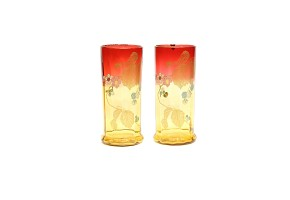 Pair of glass vases, Art Nouveau, late 19th century - early 20th century