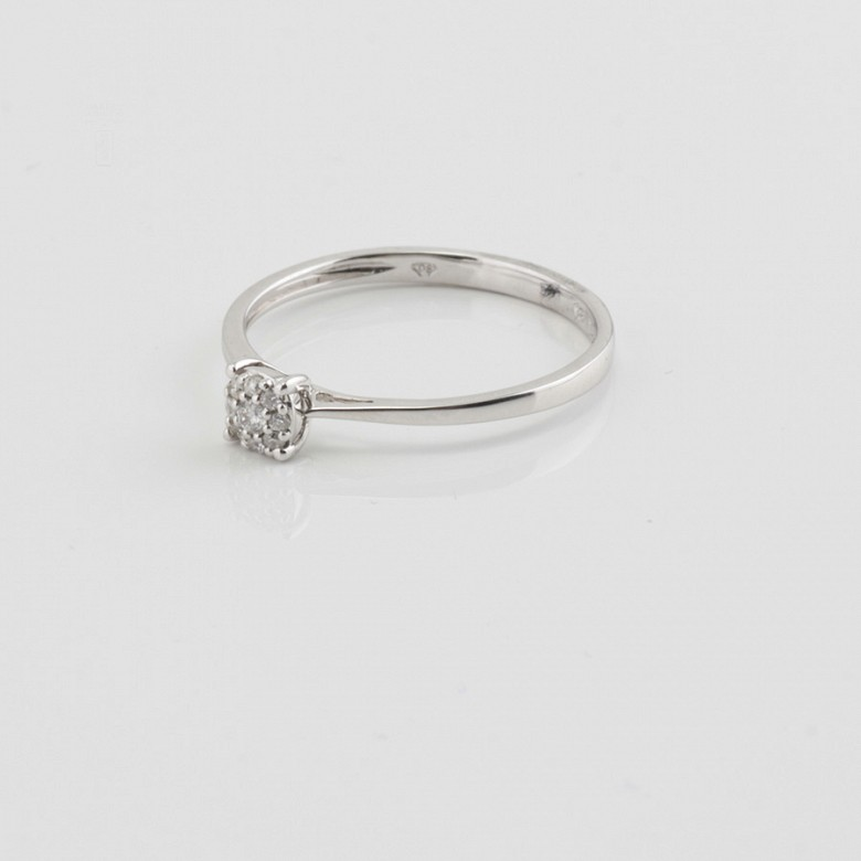 Ring in 18k gold and diamonds 0.11cts - 3