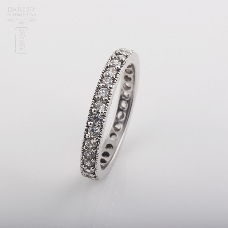 Alliance with sterling silver cubic zirconia