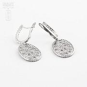 zircons earrings in sterling silver, 925m / m - 2