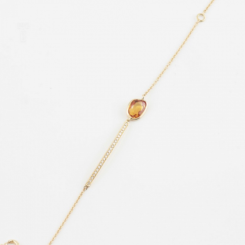 Pulsera en oro amarillo 18k y diamantes - 2
