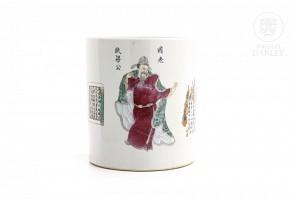 Vessel with enamel decoration, Qing Dynasty.