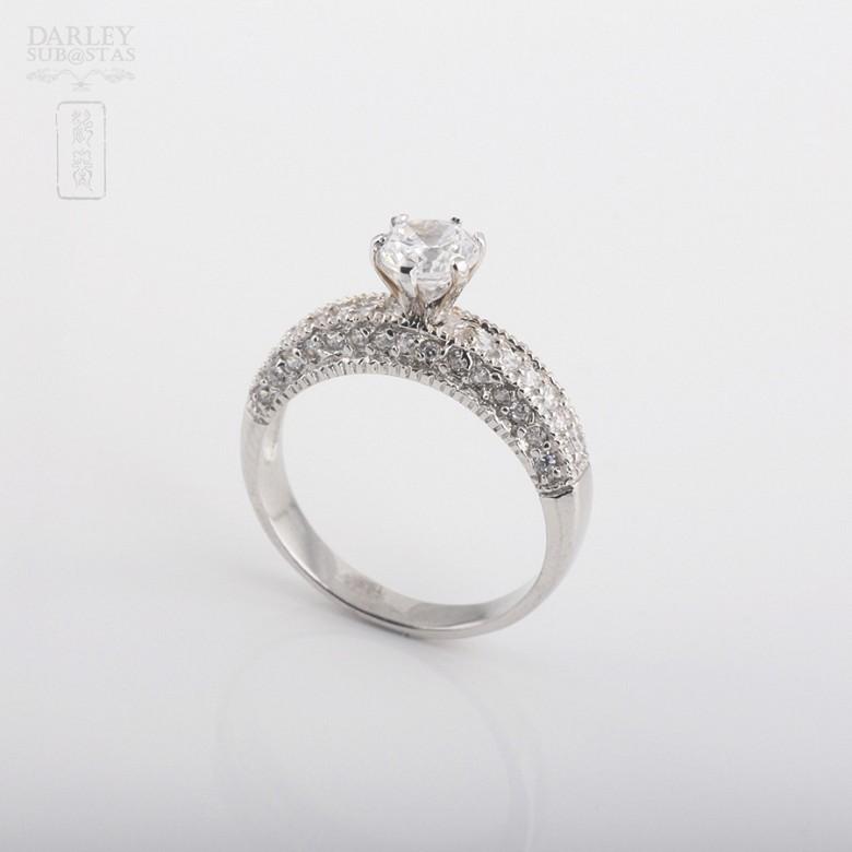 925银配锆石戒指 - 1