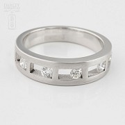Original ring 18k white gold and diamonds 0.35cts - 1