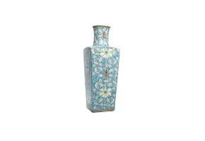 Jarrón de porcelana china esmaltada