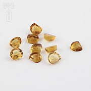 Lot 10 11.50cts citrines honey colored