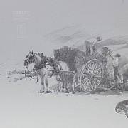 Conrado Meseguer Munoz 3 Lithographs 版画 - 3