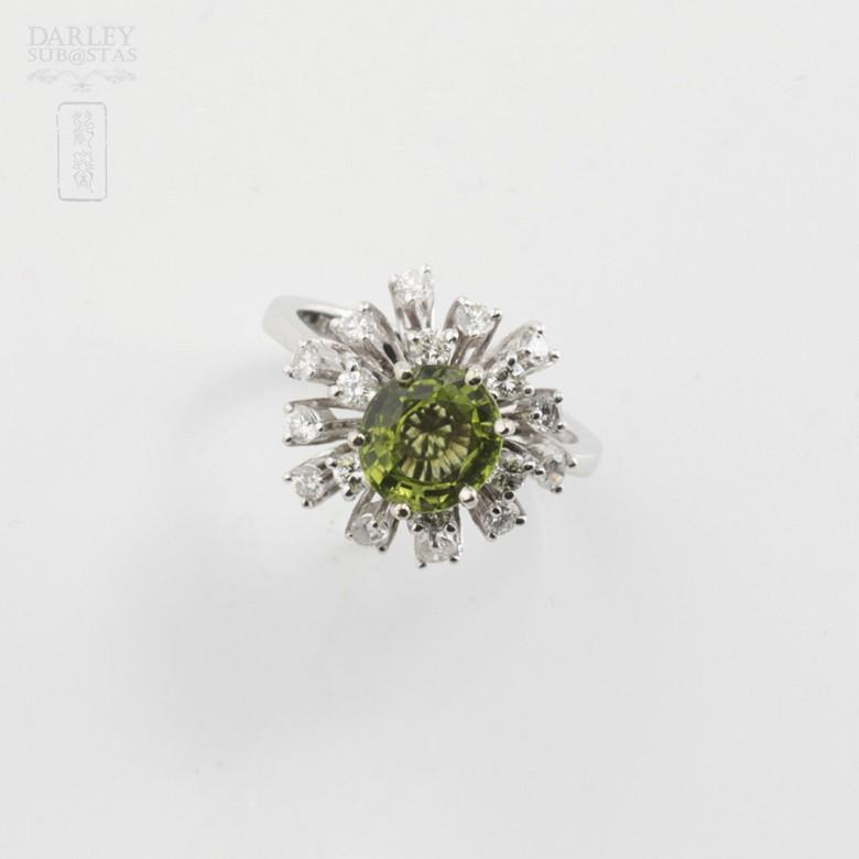 Sortija Peridoto y Diamantes - 4