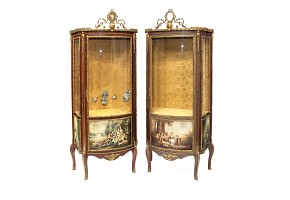 Pair of showcases, transition style Louis XV - Louis XVI, 19th century