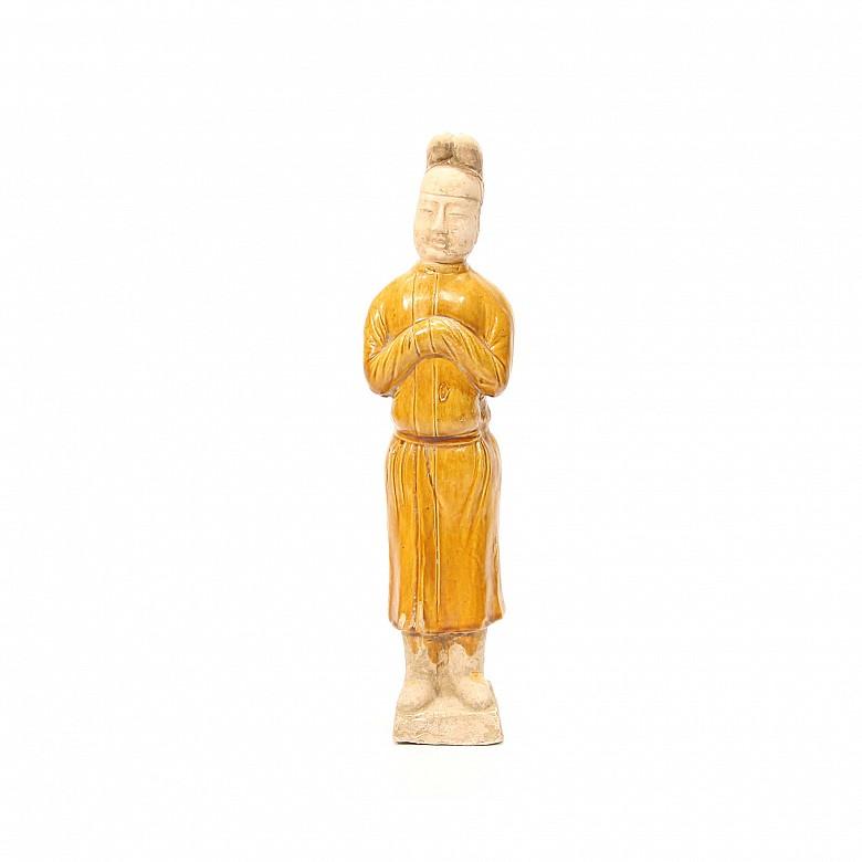 Figura de cerámica esmaltada, dinastia Tang (618-907)