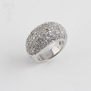 Ring zircons in sterling silver , 925