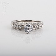 Ring in sterling silver, 925m / m, with rhodium. - 4