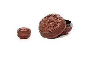 Caja de laca roja, China, s.XVIII