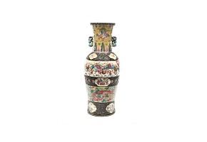 Jarrón de cerámica, China, Nanjijng, s.XIX