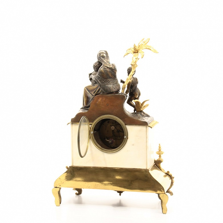 Gilt bronze and marble table clock, Barbot Paris, Finales 19th century - 3