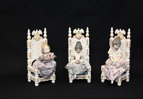 Three porcelain figurines of Lladró