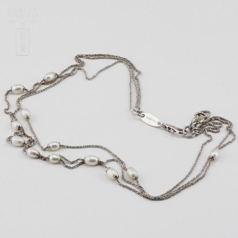 Precioso collar en plata y perlas - 1