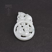 Piece of white nephrite jade - 3